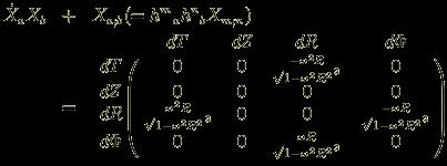 \dot{X}_aX_b &+& X_{a;b} (= h^m{}_ah^n{}_bX_{m;n})